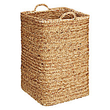 Buy John Lewis Croft Collection Water Hyacinth Rectangular Basket with Handles Online at johnlewis.com