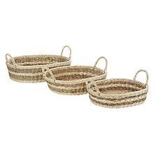 Buy John Lewis Wide, Shallow, Striped Seagrass Trays, Set of 3 Online at johnlewis.com