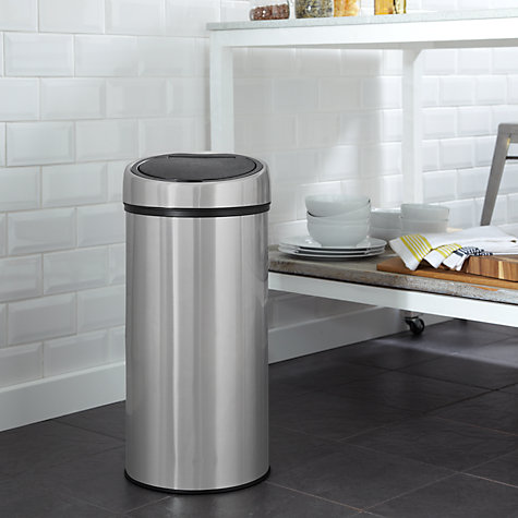 Buy John Lewis Touch Top Bin, 30L Online at johnlewis.com