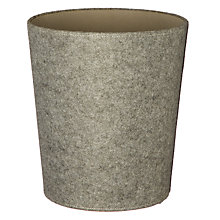 Buy House by John Lewis Grey Felt Wastepaper Bin Online at johnlewis.com