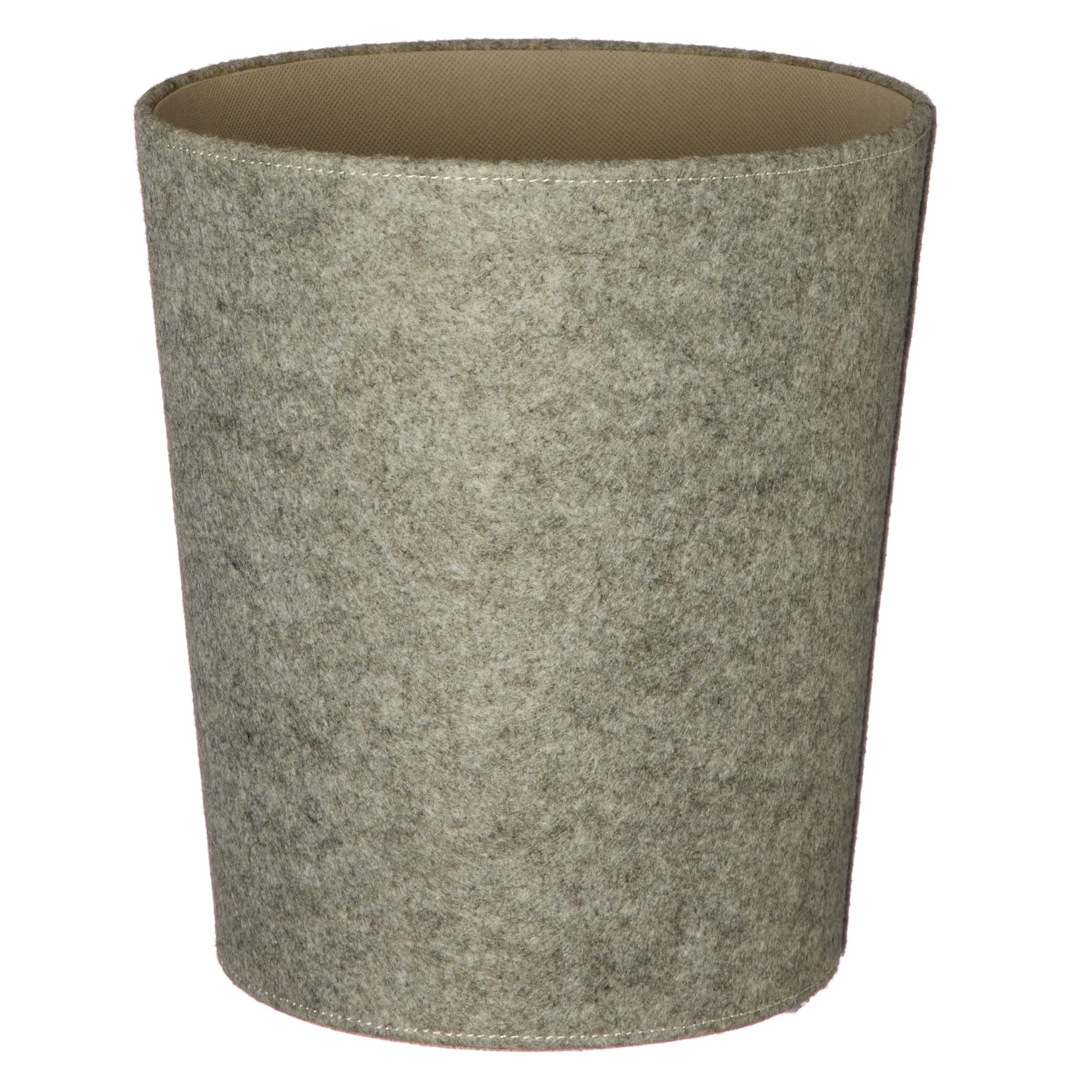 House by John Lewis Grey Felt Wastepaper Bin