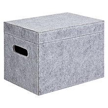 Buy House by John Lewis Lidded Felt Storage Box, Grey, Medium Online at johnlewis.com