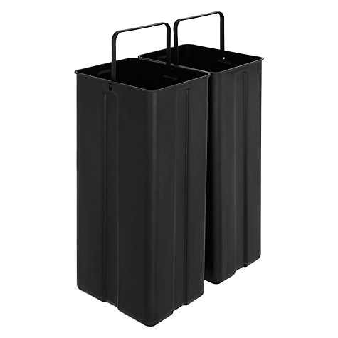 Buy John Lewis 2 Section Soft Close Recycling Pedal Bin, Stainless Steel, 30L Online at johnlewis.com