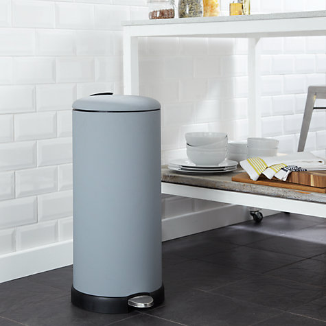 Buy John Lewis Soft Touch Pedal Bin, Grey 30L Online at johnlewis.com