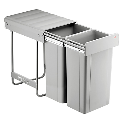 Wesco Built In Big Bio-Double Bin, 64L