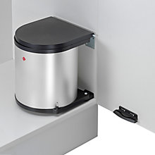 Buy Wesco Built In Round Kitchen Bin, Silver, 13L Online at johnlewis.com