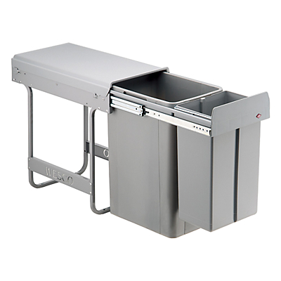 Wesco Built In Big Bio-Double Bin, 36L