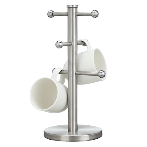 Buy John Lewis Mug Tree, Stainless Steel Online at johnlewis.com