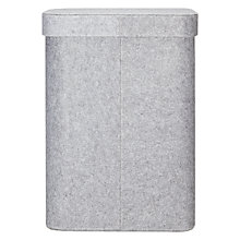 Buy John Lewis Felt Laundry Basket, Grey Online at johnlewis.com