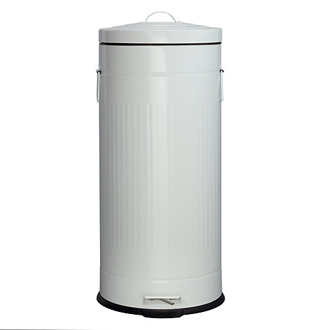 Buy John Lewis Trash Can, White, 30L Online at johnlewis.com