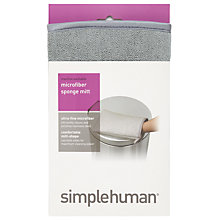 Buy simplehuman Microfibre Stainless Steel Cleaning Mitt Online at johnlewis.com