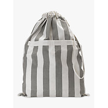 Buy John Lewis Chambray Stripe Laundry Bag, Grey Online at johnlewis.com