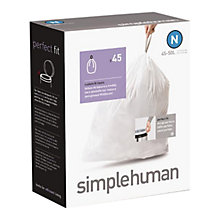 Buy simplehuman Bin Liner 45 Pack Box, Size N Online at johnlewis.com