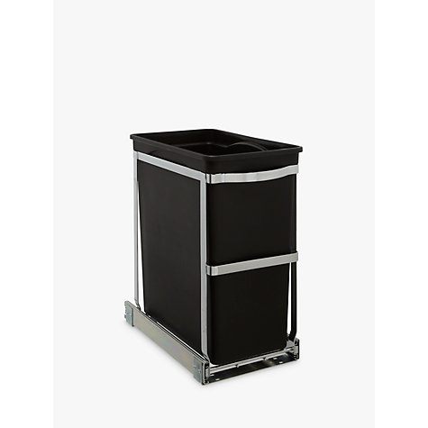 Buy simplehuman Under Counter Pull-Out Bin, 30L Online at johnlewis.com