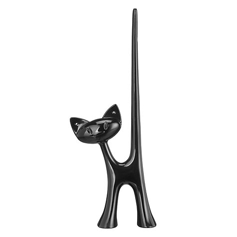 Buy Koziol Miaou Cat Ring Holder, Black Online at johnlewis.com