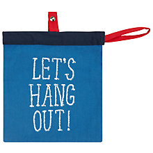 "Buy John Lewis ""Let's Hang Out"" Peg Bag Online at johnlewis.com"