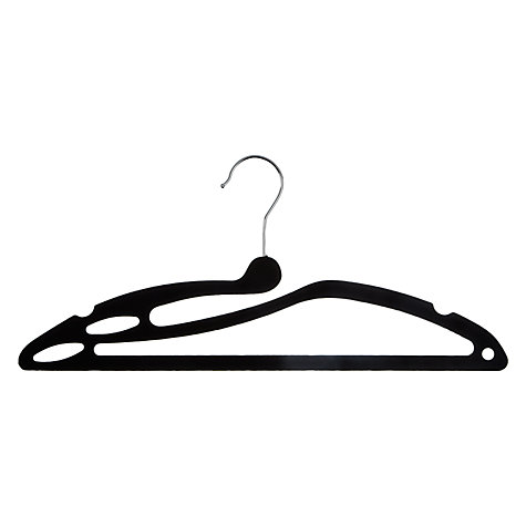 Buy John Lewis Black Flocked Swan Hanger, Set of 3 Online at johnlewis.com