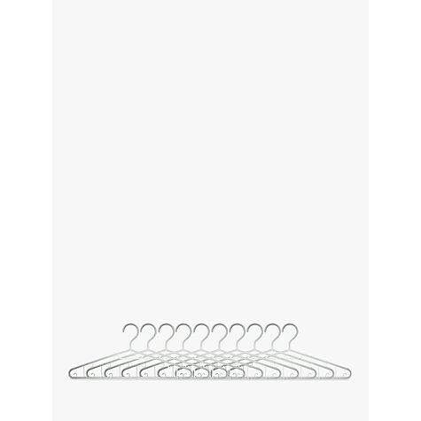 Buy John Lewis Basic Plastic Hangers, Set of 10, White Online at johnlewis.com