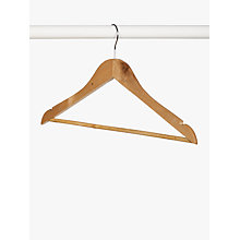 Buy John Lewis Eucalyptus Wood Clothes Hangers, Set of 6 Online at johnlewis.com