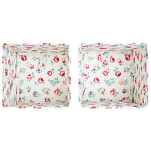 Buy Cath Kidston Cube Storage Boxes, Set of 2, Linen Sprig Online at johnlewis.com