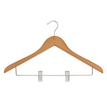 Buy John Lewis FSC Beech Combination Hanger Online at johnlewis.com