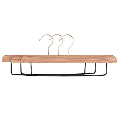 Buy John Lewis FSC Cedar Drop Bar Hanger, Pack of 3 Online at johnlewis.com