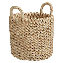 Buy John Lewis Woven Maize Storage Basket with Handles Online at johnlewis.com