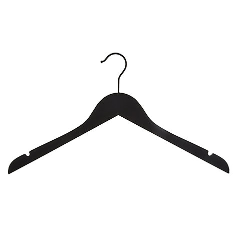 Buy John Lewis Brooklyn Rubber Hanger, Black Online at johnlewis.com