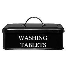 Buy Garden Trading Washing Tablet Box, Black Online at johnlewis.com
