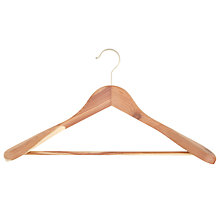 Buy John Lewis FSC Cedar Wood Bulbous Suit Hanger Online at johnlewis.com