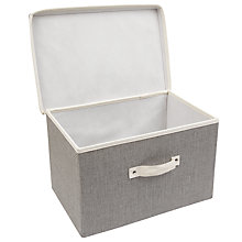 Buy John Lewis Fusion Lidded Storage Box with Handle Online at johnlewis.com