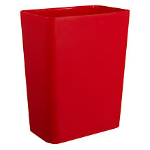 Buy House by John Lewis Plastic Wastepaper Bin, Red Online at johnlewis.com