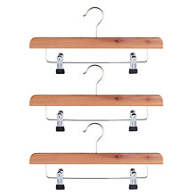 Buy John Lewis FSC Cedar Skirt Clip Hangers, Pack of 3 Online at johnlewis.com