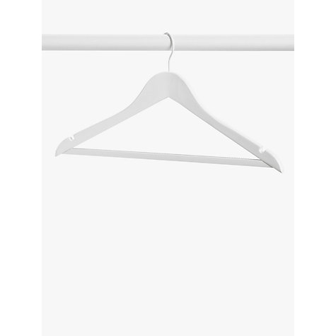 Buy John Lewis Wooden Clothes Hangers, Pack of 6, White Online at johnlewis.com