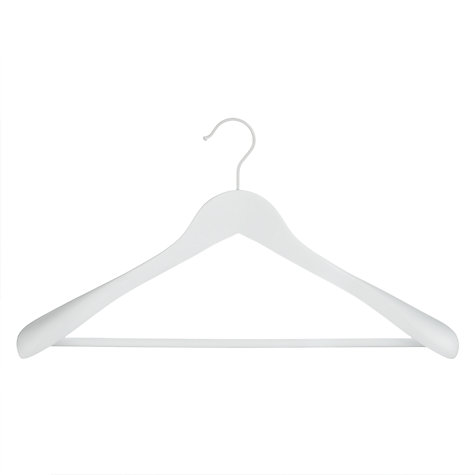 Buy John Lewis Bulbous Suit Hanger, White Online at johnlewis.com