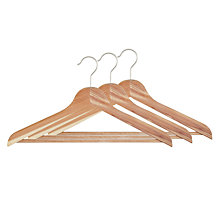 Buy John Lewis FSC Cedar Jacket Hangers, Pack of 3 Online at johnlewis.com