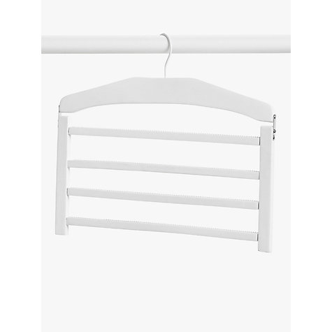 Buy John Lewis 4 Bar Slack Rack, White Online at johnlewis.com