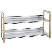 Buy John Lewis 2 Tier Chrome Shoe Rack Online at johnlewis.com
