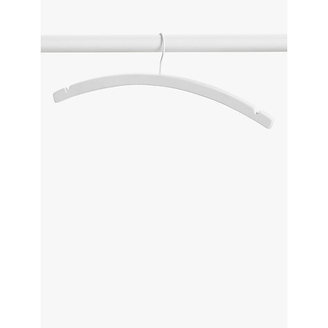 Buy John Lewis FSC Crescent Hangers, Pack of 6, White Online at johnlewis.com