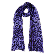 Buy Planet Wool Animal Print Scarf, Purple Online at johnlewis.com