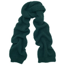 Buy Whistles Stitch Scarf, Green Online at johnlewis.com