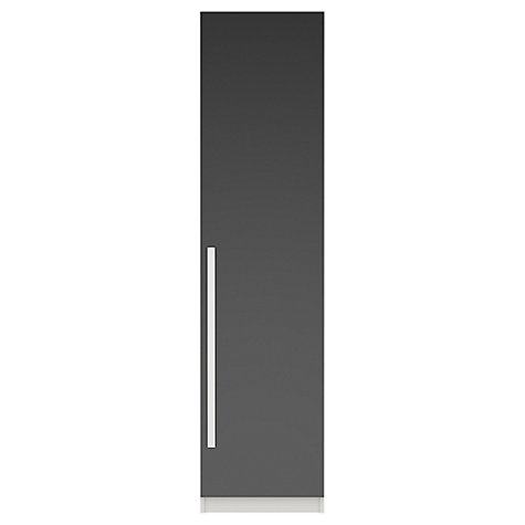 Buy House by John Lewis Mixit Block Handle Single Wardrobe, Gloss Grey/White Online at johnlewis.com