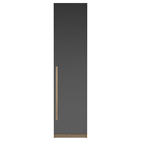 Buy House by John Lewis Mix it Block Handle Single Wardrobe, Gloss Grey/Grey Ash Online at johnlewis.com
