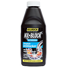 Buy Kilrock Kil-Block Bathroom Drain Unblocker, 500ml Online at johnlewis.com
