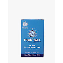 Buy Town Talk Silver Polishing Cloth Online at johnlewis.com
