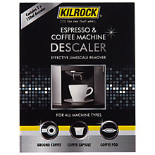 Buy Kilrock Espresso Machine Descaler, 2x 150ml Online at johnlewis.com