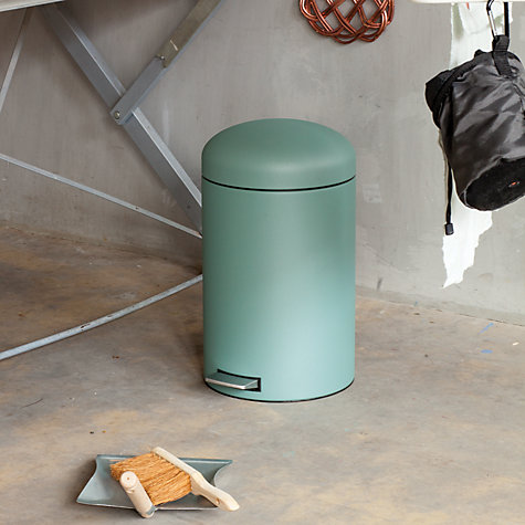 Buy Brabantia Retro Pedal Bin, Mineral Mint, 20L Online at johnlewis.com