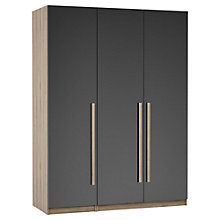 Buy House by John Lewis Mix it Block Handle Triple Wardrobe, Gloss House Steel/Grey Ash Online at johnlewis.com