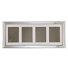 "Buy John Lewis Multi-aperture Mirror Photo Frame, 4 Photo, 5 x 7"" (13 x 18cm) Online at johnlewis.com"