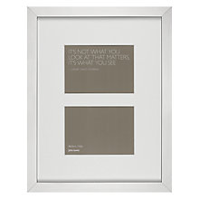 "Buy John Lewis Multi-aperture Photo Frame, Silver, 2 Photo, 5 x 7"" (13 x 18cm) Online at johnlewis.com"